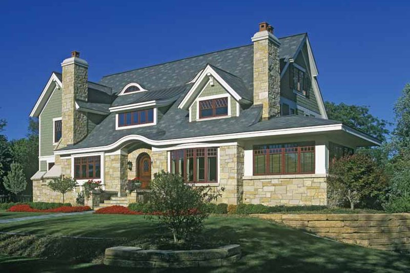 Craftsman Exterior - Front Elevation Plan #928-19 - Houseplans.com