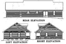 House Design - Country Exterior - Rear Elevation Plan #57-171
