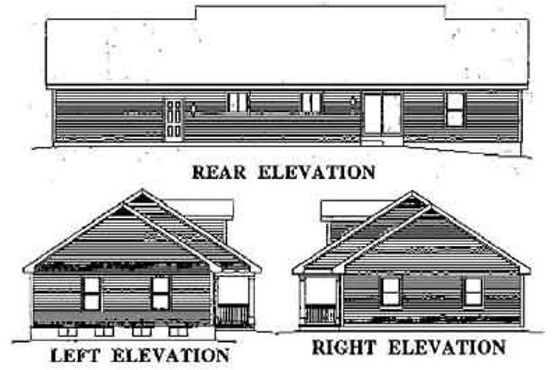 Country Exterior - Rear Elevation Plan #57-171 - Houseplans.com