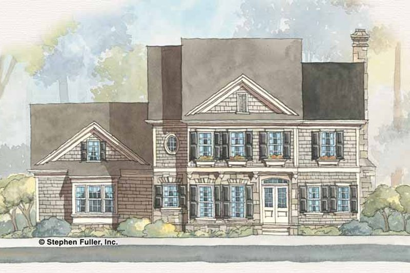 Colonial Exterior - Front Elevation Plan #429-253