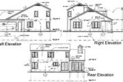 Traditional Style House Plan - 4 Beds 2.5 Baths 1999 Sq/Ft Plan #50-156 Exterior - Rear Elevation