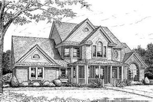 Southern Exterior - Front Elevation Plan #310-208