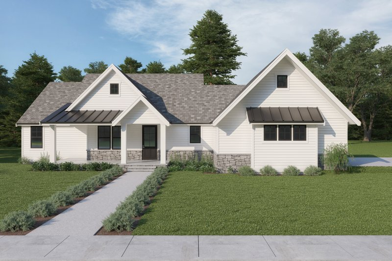Home Plan - Farmhouse Exterior - Front Elevation Plan #1070-116