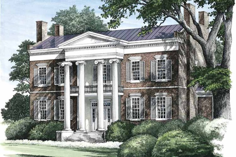 Classical Exterior - Front Elevation Plan #137-311 - Houseplans.com
