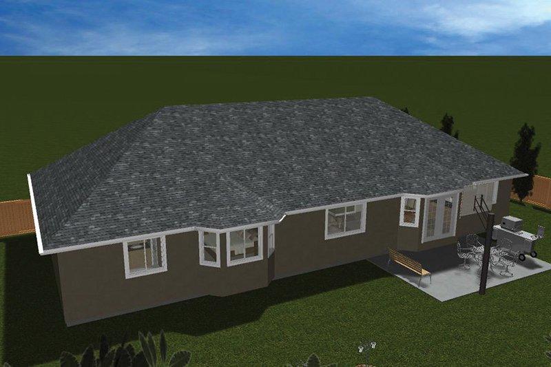 Ranch Exterior - Rear Elevation Plan #1060-35 - Houseplans.com