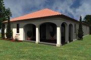 Mediterranean Style House Plan - 2 Beds 2 Baths 1753 Sq/Ft Plan #930-426 Exterior - Rear Elevation
