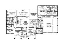 European Floor Plan - Main Floor Plan Plan #21-332