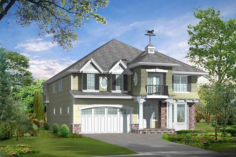Craftsman Exterior - Front Elevation Plan #132-462