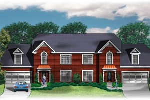 European Exterior - Front Elevation Plan #26-212