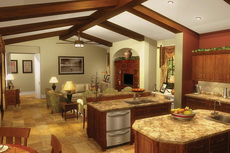 Mediterranean Interior - Kitchen Plan #930-434 - Houseplans.com