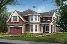 Architectural House Design - Craftsman Exterior - Front Elevation Plan #132-317
