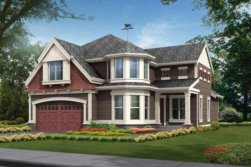 Craftsman Exterior - Front Elevation Plan #132-317