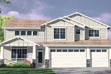 Craftsman Exterior - Front Elevation Plan #509-317