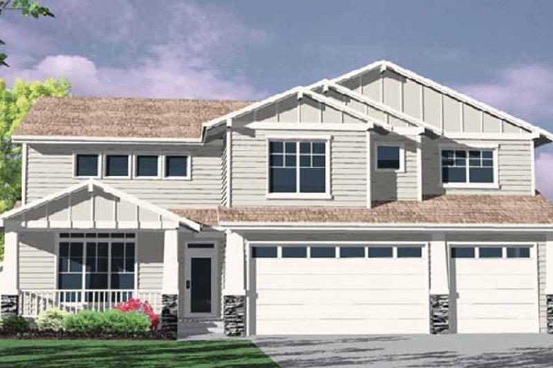 Craftsman Exterior - Front Elevation Plan #509-317 - Houseplans.com