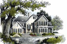 Home Plan Design - Country Exterior - Front Elevation Plan #429-341