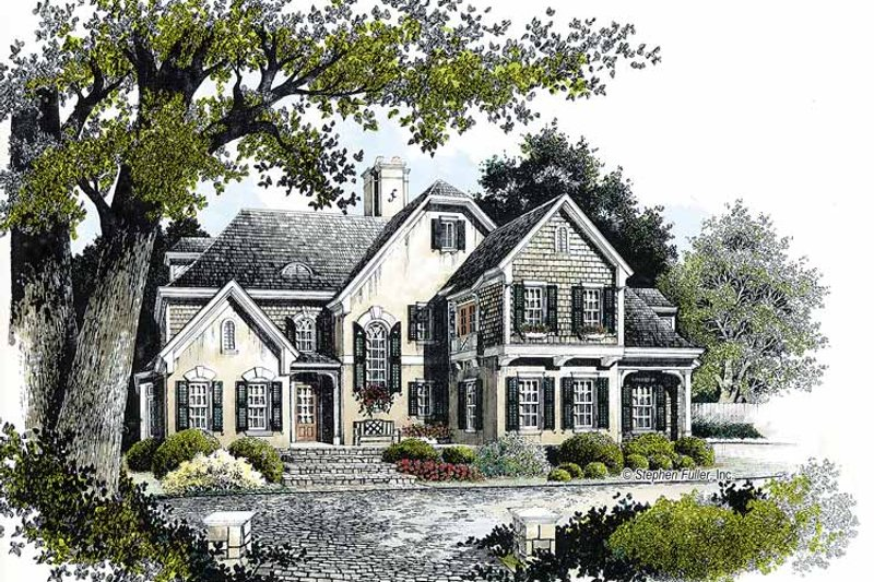 Country Exterior - Front Elevation Plan #429-341 - Houseplans.com