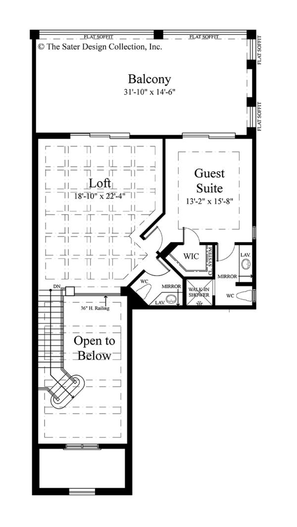 Mediterranean Floor Plan - Upper Floor Plan Plan #930-449