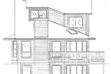 Contemporary Exterior - Rear Elevation Plan #320-1008