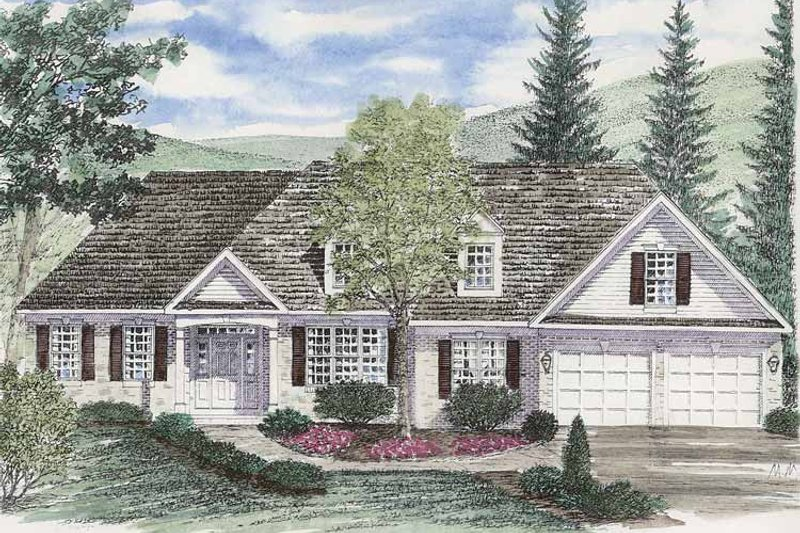 Ranch Exterior - Front Elevation Plan #316-251 - Houseplans.com