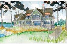 Craftsman Exterior - Rear Elevation Plan #928-54