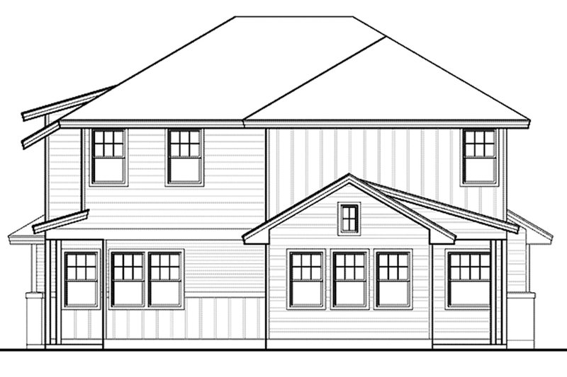 Craftsman Exterior - Rear Elevation Plan #935-3 - Houseplans.com