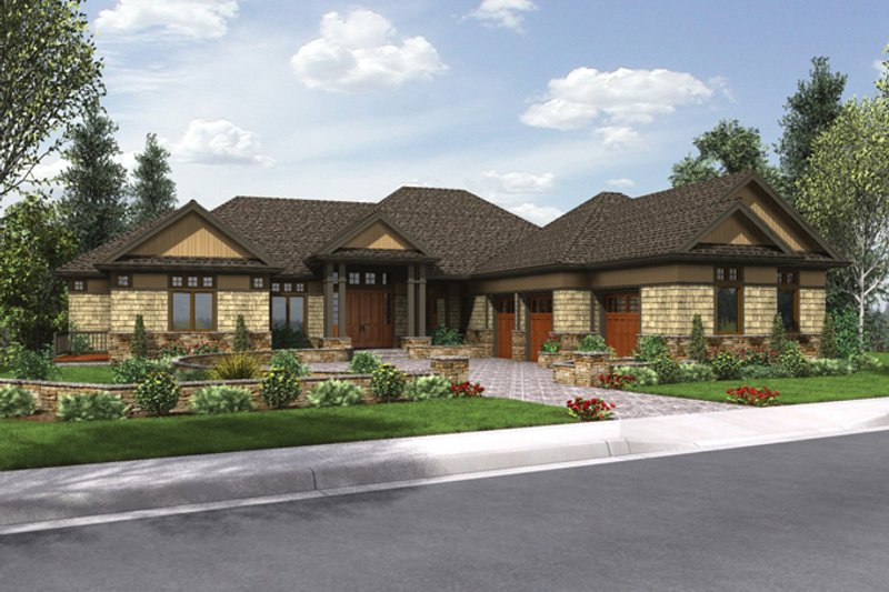 Craftsman Exterior - Front Elevation Plan #48-904