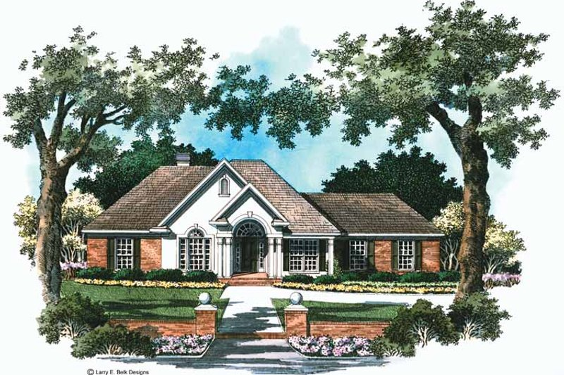 Mediterranean Exterior - Front Elevation Plan #952-285