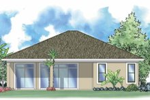 House Design - Mediterranean Exterior - Rear Elevation Plan #930-384