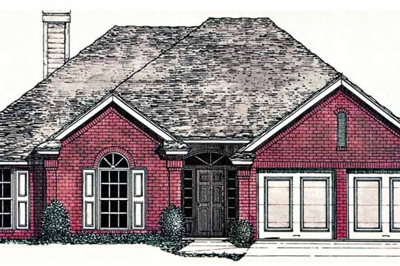 Ranch Exterior - Front Elevation Plan #310-1225