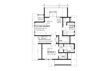 Contemporary Floor Plan - Upper Floor Plan Plan #118-162