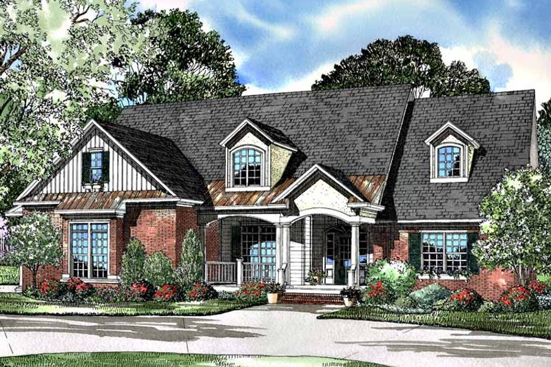 Country Exterior - Front Elevation Plan #17-3097 - Houseplans.com