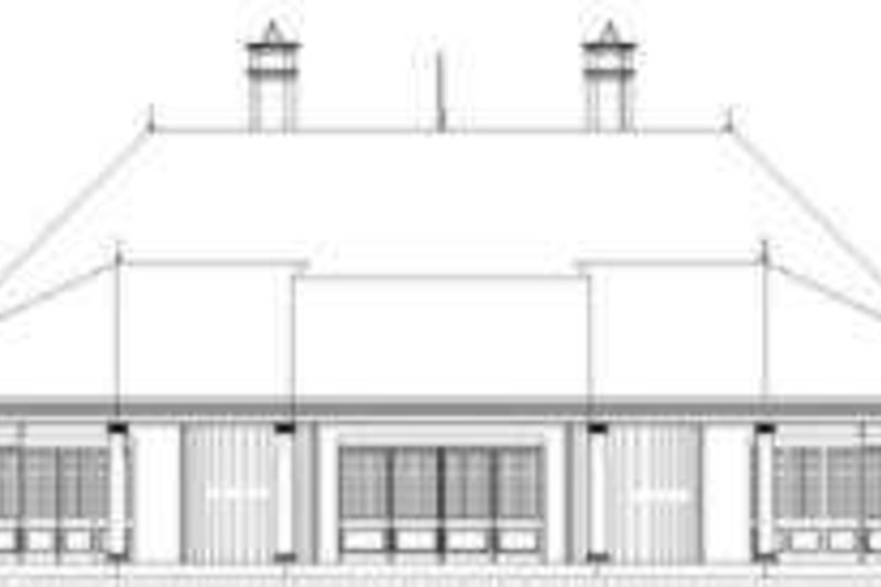 European Exterior - Rear Elevation Plan #119-200 - Houseplans.com