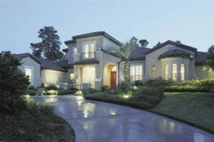 Architectural House Design - Mediterranean Exterior - Front Elevation Plan #1039-3