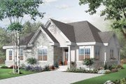 European Style House Plan - 3 Beds 2 Baths 2238 Sq/Ft Plan #23-2395 Exterior - Front Elevation