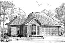 European Exterior - Front Elevation Plan #410-259