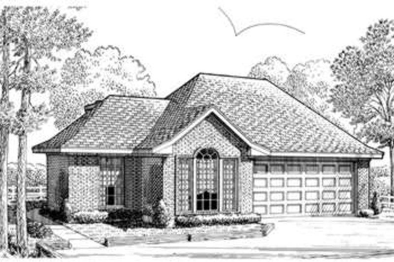 Dream House Plan - European Exterior - Front Elevation Plan #410-259