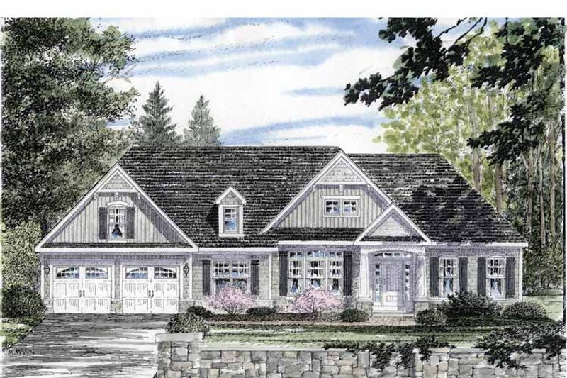 Craftsman Exterior - Front Elevation Plan #316-266 - Houseplans.com