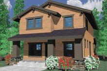 Prairie Exterior - Front Elevation Plan #509-221