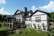 Craftsman Style House Plan - 5 Beds 4.5 Baths 5172 Sq/Ft Plan #1069-13 Exterior - Rear Elevation