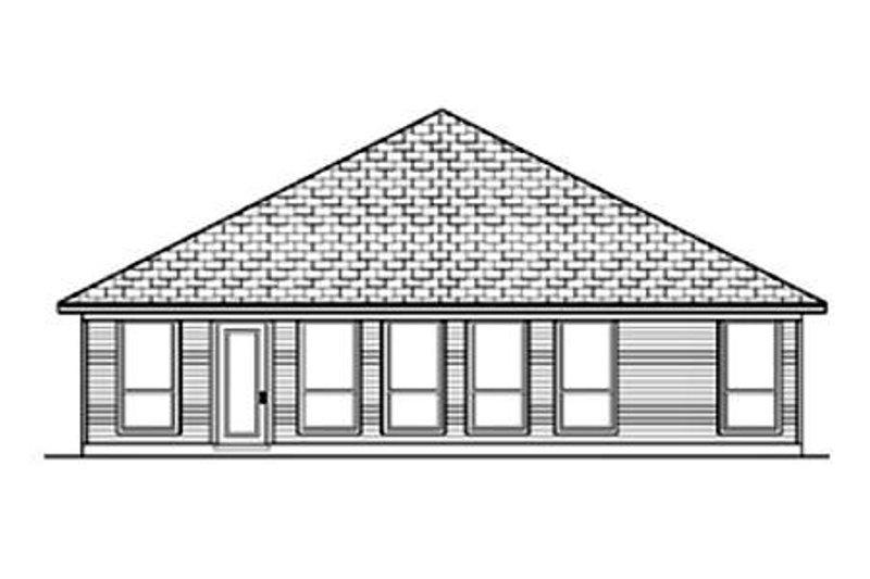 Traditional Exterior - Rear Elevation Plan #84-349 - Houseplans.com