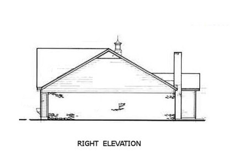 Ranch Exterior - Other Elevation Plan #45-190 - Houseplans.com