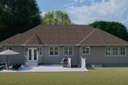 Traditional Style House Plan - 3 Beds 2.5 Baths 2199 Sq/Ft Plan #1060-100 Exterior - Rear Elevation