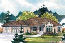 Architectural House Design - Mediterranean Exterior - Front Elevation Plan #124-466