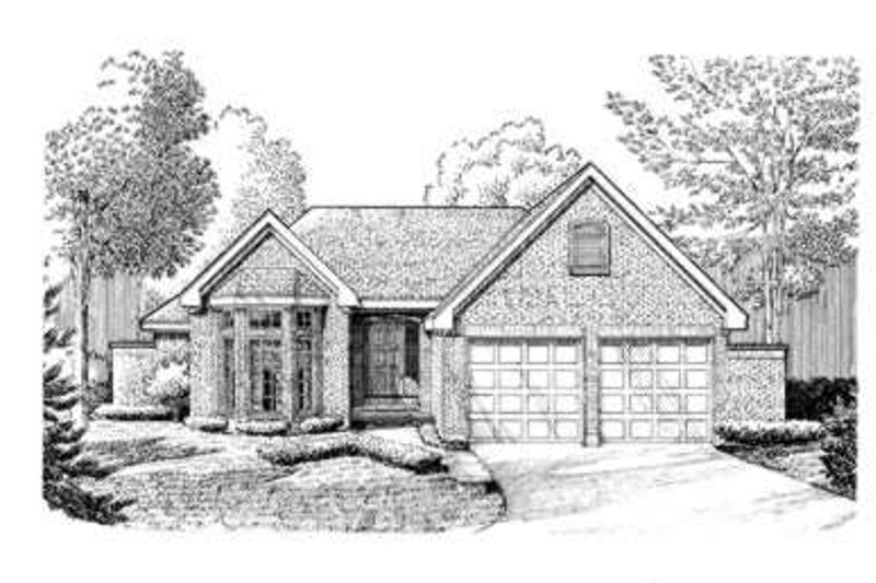 European Exterior - Front Elevation Plan #410-223