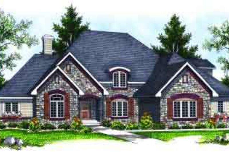 Dream House Plan - European Exterior - Front Elevation Plan #70-641
