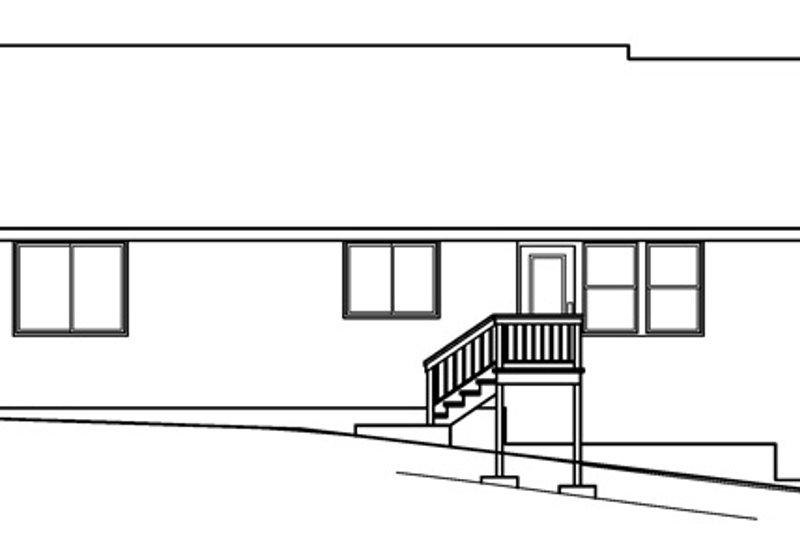 Country Exterior - Rear Elevation Plan #124-368 - Houseplans.com