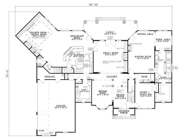 Dream House Plan - European Floor Plan - Main Floor Plan #17-256