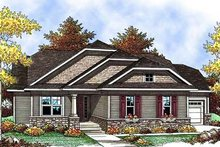 Dream House Plan - Craftsman Exterior - Front Elevation Plan #70-900