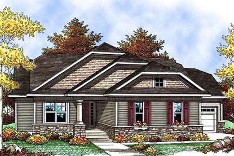Home Plan - Craftsman Exterior - Front Elevation Plan #70-900