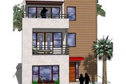 Modern Style House Plan - 2 Beds 3 Baths 1612 Sq/Ft Plan #512-2 Exterior - Front Elevation
